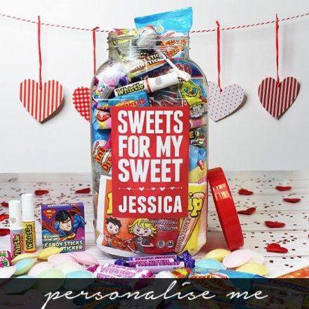 Sweets for my Sweet - Personalised Sweetie Jar (Large)